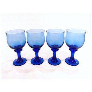 Libbey Mediterranean Blue Clarion Water Goblets